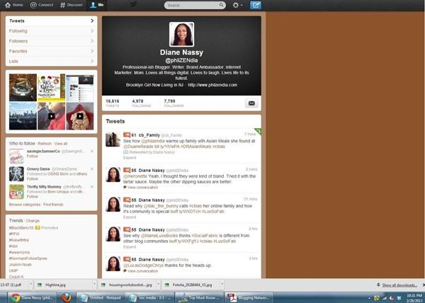 Screenshot of Philzendia Twitter Profile as of 2-28-13