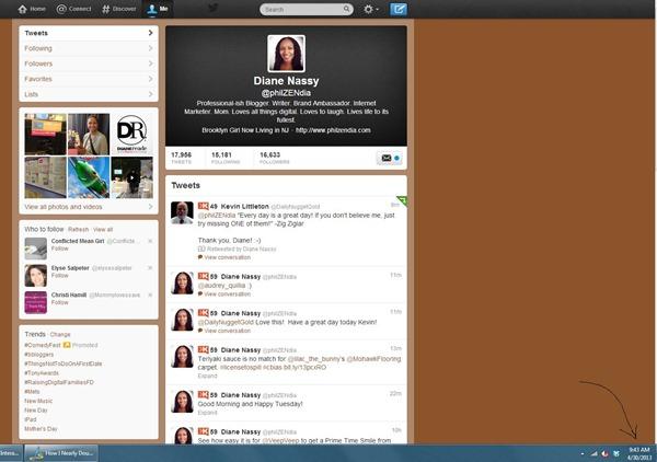 Screenshot of Philzendia Twitter Profile as of 4-30-13