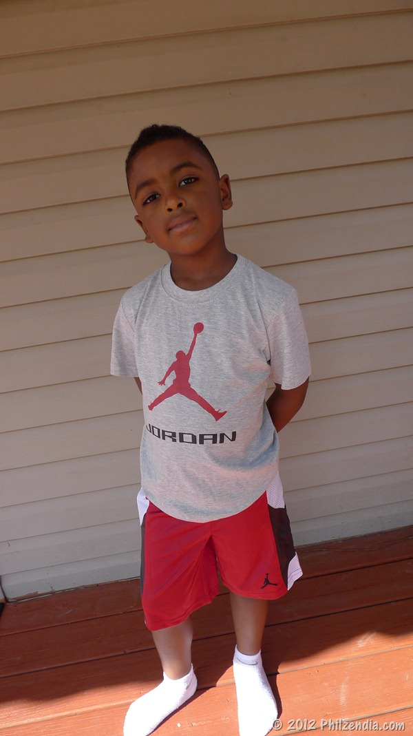Micheal Jordan tee and shorts from RookieUSA