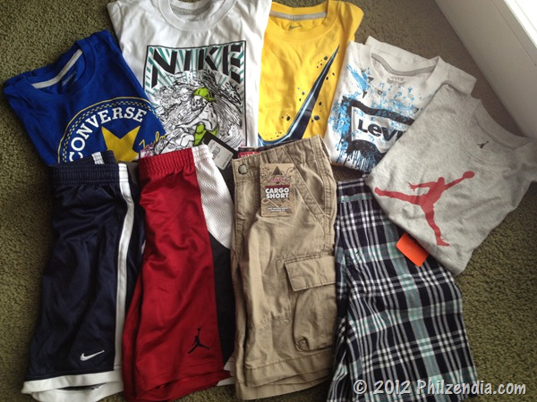 Clothes we received from Rookieusa
