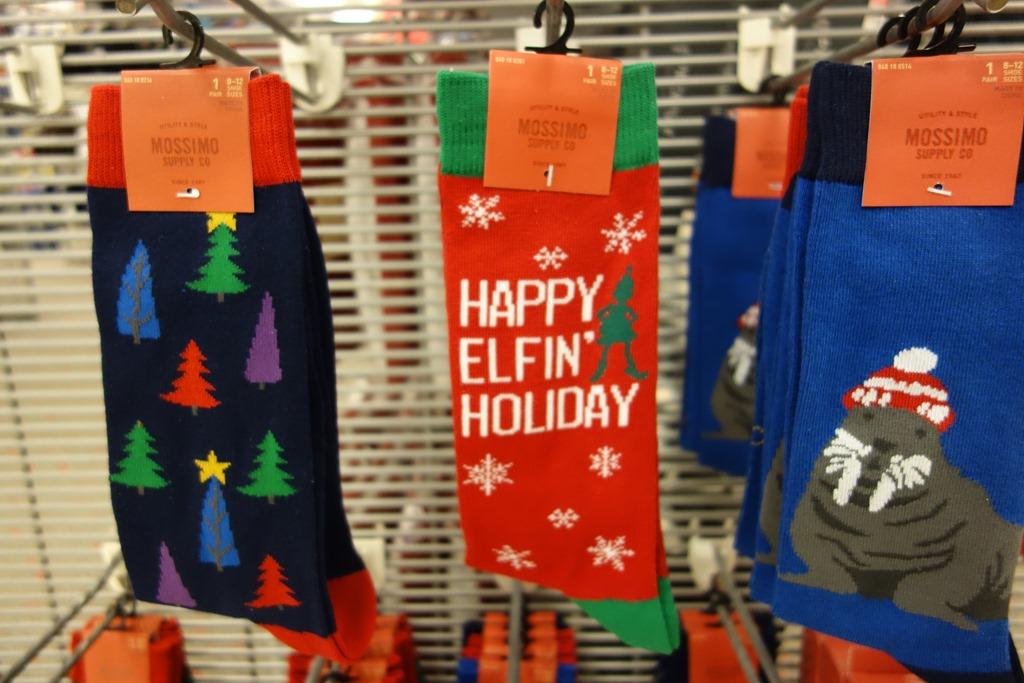 ugly holiday socks at target