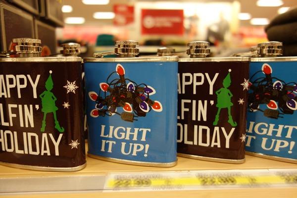 Ugly holiday themed flasks at Target