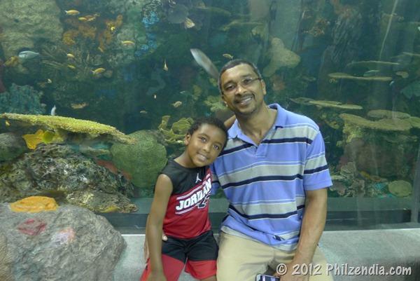 Phil and Z.E.N. posing at the Virginia Aquarium