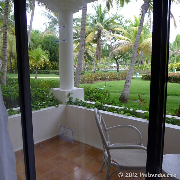 Hotel room terrace at Melia Caribe Tropical - Punta Cana
