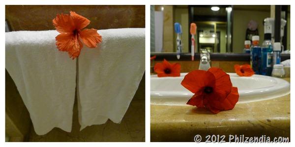 flowers in bathroom - melia caribe tropical