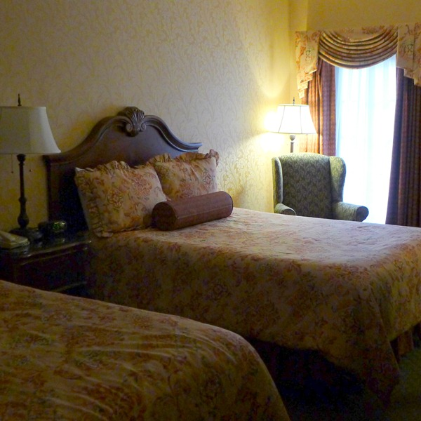 Guest room at the fulton Steamboat Inn in Lancaster County PA featuring 2 Queen sized beds