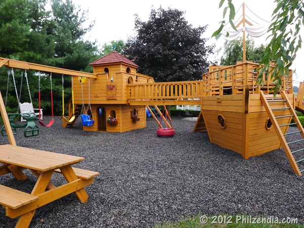 The playground at the Fulton Steamboat Inn