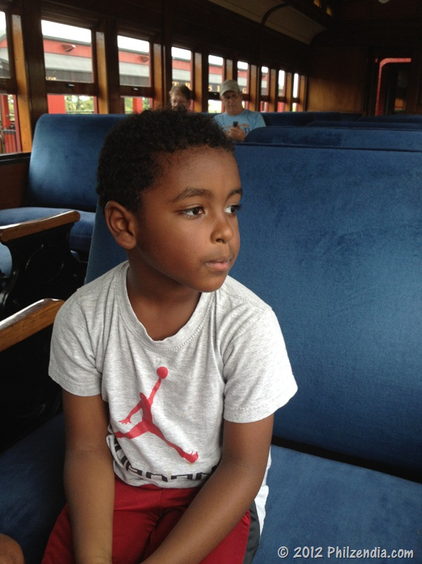 Z.E.N. patiently waiting for the train ride to start - Strasburg Railroad