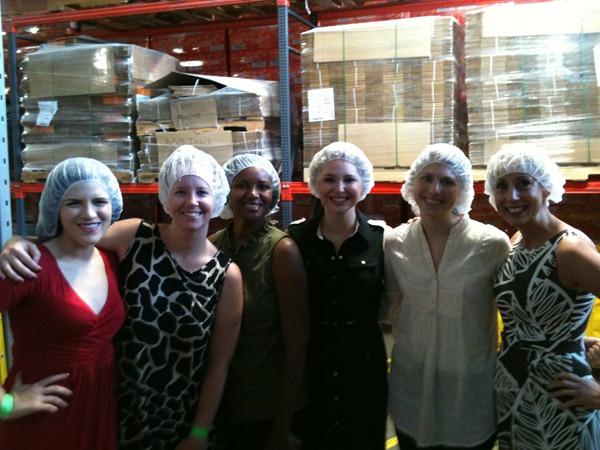 smarties factory tour - hairnets
