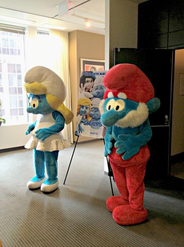 Smurfette and Papa Smurf