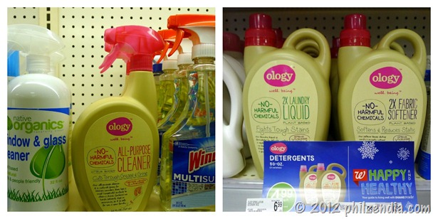 Ology cleaning and laundry products