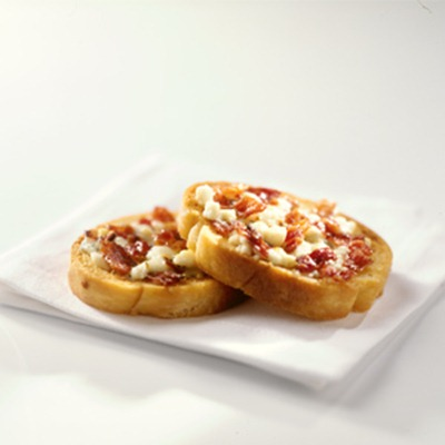 Bacon and Blue Cheese Crostini Appetizer