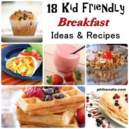 Kids breakfast ideas recipes collage